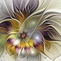 Floral Abstract Digital Art by Gabiw Art