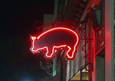 NEON 'PIG' SIGN                                                                                                                   ๑෴MustBaSign෴๑