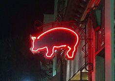 neon pig.....