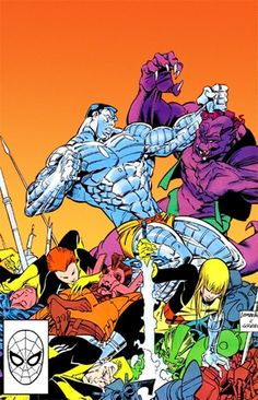 Colossus and the New Mutants by Rick Leonardi