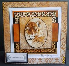 Card made using the new World Wildlife collection. This is the small 4x4 popper pad, which I have used 4 sheets to made it a stacker card.