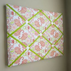 "16""x20"" Memory Board or Bow Holder-Bijou Blue, Pink, Coral"