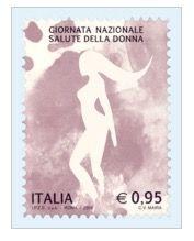 Giornata Nazionale della Salute della Donna emesso francobollo celebrativo