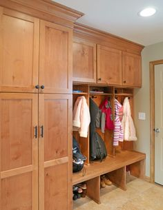 A little space for coats and shoes in laundry room/pantry.