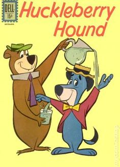 HuckleBerry Hound And Yogi Bear Glass of Water (140 pieces)