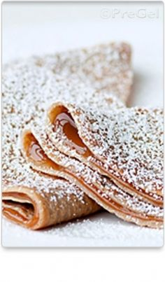 Crepes // True French-style crepes, create these delicious crepes using PreGel 5-Star Chef Pastry Select Vanilla Compound.