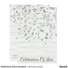Celebration of Live Invitation Vip Silver