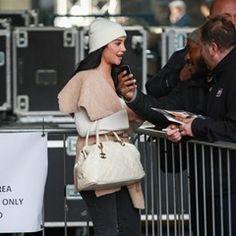 Singer Tulisa Contostavlos leaving BBC Radio 1 Xtra studios in London