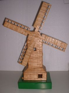 how to make a windmill model at home
