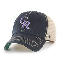 df96d36f6cdd0 Colorado Rockies 47 Brand Trawler Black Clean Up Adjustable Hat Clean Up