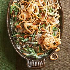 This Homemade Green bean casserole is perfect for entertaining. Appeal to all ages by pairing an old-school look (fried onions) with a new-and-improved homemade sauce.