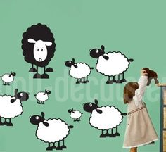 Decora con Ovejas Infantil - Moon Wall Stickers