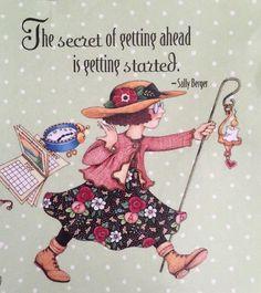 The Secret Of Getting Ahead-Mary Engelbreit Artwork Magnet