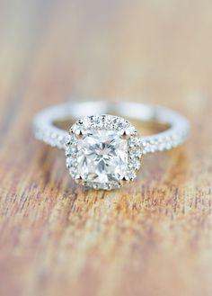 A stunning Vintage Custom Cushion Shape Diamond Engagement Ring!