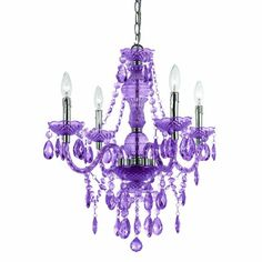 Af Lighting Elements 8353-4H Mini Chandelier 4 Light In Purple Cut Plastic