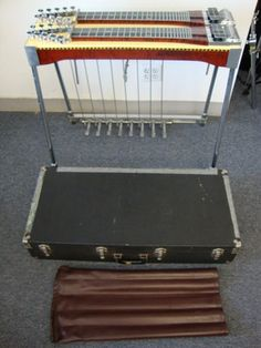 Sho-Bud Super Pro double neck lap steel guitar with case and accessories $1 NoRs