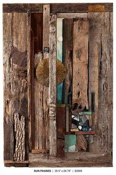 by Dwain Kelly Driftwood Wall Art, Sea Crafts, Found Art, Vintage Artwork, Assemblage Art, Altered Art, Collage Art, Sculpture Art, Design Art