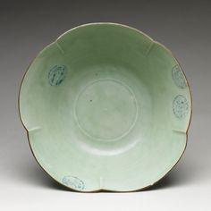 Period: Edo period (1615–1868) Culture: Japan Medium: Porcelain with celadon glaze and underglaze blue (Hizen ware, early Imari type) Dimensions: H. 4 5/8 in. (11.7 cm); Diam. 12 1/2 in. (31.8 cm)