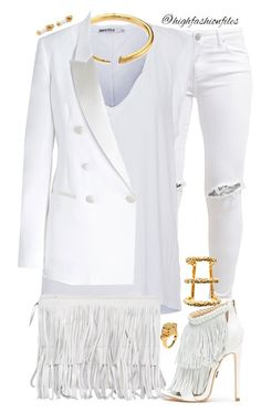 """Fringed"" by highfashionfiles on Polyvore featuring FiveUnits, Pam & Gela, Michael Kors, Oscar de la Renta, Neil Barrett, Paula Mendoza, Bulgari, Eddie Borgo, women's clothing and women's fashion"