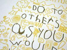 Golden Rule Letterpress Poster