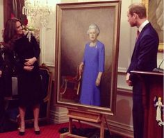 Duke and Duchess unveil portrait of the Queen in New Zealand 10 April 2014