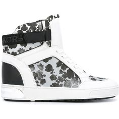 4bc59a4421b Michael Michael Kors floral hi-top sneakers ( 217) ❤ liked on Polyvore  featuring shoes