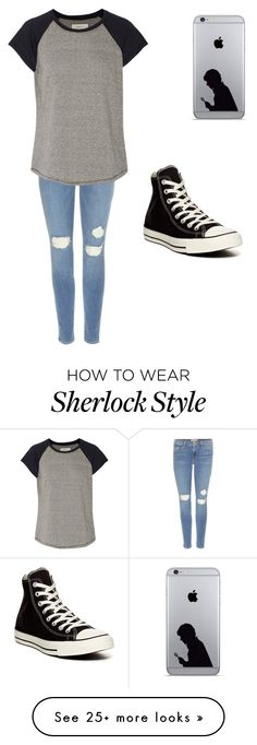 """""""Untitled #144"""" by pierce-the-sleeping-veils on Polyvore featuring Frame Denim, Current/Elliott, Converse, women's clothing, women, female, woman, misses and juniors"""