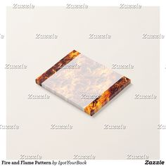 Fire and Flame Pattern Post-it Notes by Gravityx9 Designs! HOT, HOT , HOT! Red hot, orange and yellow flaming hot fire pattern covers this product! Sizzling hot fire texture can be personalized with a photo or text.