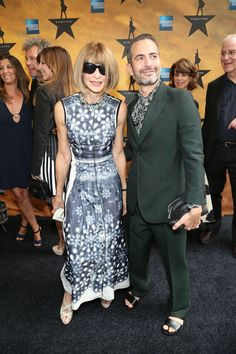 Anna Wintour in Marc Jacobs and Marc Jacobs