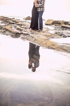 #Striking #Reflection. ::Samantha + Jeffrey's cool city engagement session:: #beach #bythewater #lovely