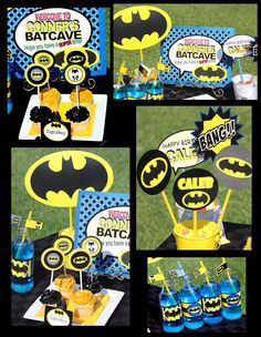 BATMAN COMPLETE  - Superheroes - Boys Birthday Party - or Individual items - Super Hero -Krown Kreations and Celebrations. $30.00, via Etsy.