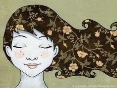 Anna - Original illustrasjon