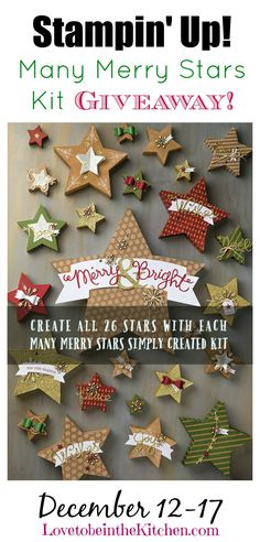 Stampin' Up! Many Merry Stars Kit Giveaway- So many fun things you can make with this kit! #giveaway
