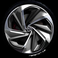 Citroen Numero 9 Concept Wheel Design Sketch