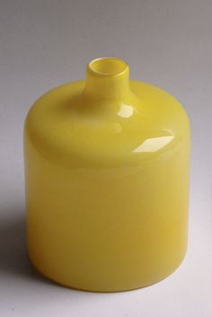 Vintage Yellow Vase - Holmegaard  || House of Honey Color Bar Yellow