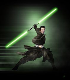 Jedi Shadow by adamqd.deviantart.com on @deviantART PLEASE MAKE A TWO SIDED LIGHTSABER THAT'S NOT RED!