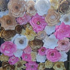 Paper Flower backdrop by handmadecorcanada on Etsy