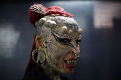 Say hello to Maria Jose Cristerna, also known as Vampire Woman, who turned up at the Venezuelan Tattoo Convention.