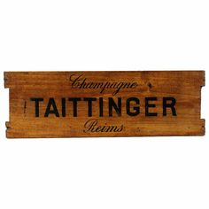 Mid Century Champagne Crate Sign