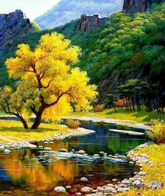 Good Morning Pictures, Images, Photos - Page 2 Landscape Art, Landscape Paintings, Landscape Photography, Nature Photography, Beautiful World, Beautiful Images, Autumn Scenery, Nature Wallpaper, Science And Nature