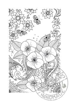 Digital Coloring Page 1 By BDDesignCrafts On Etsy Flowers Color Pages Colouring Adult Detailed Advanced