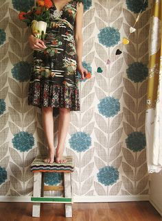 by Tif Fussell / Dottie Angel on flickr http://www.flickr.com/photos/dottieangel/  One of many faves from Tif's Bench Monday set. She sure knows how to stand on a (Wood & Wool) stool in style.