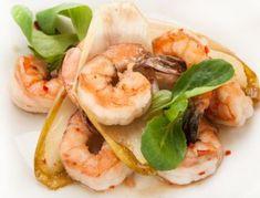 Pieczone krewetki w 5 minut Shrimp, Meat, Cooking, Fitness, Blog, Cuisine, Gymnastics, Kitchen, Kochen