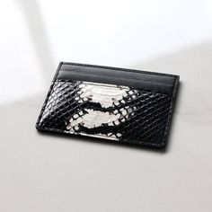 Fancy - The Crow Python Exotic Card Holder by Via Watt
