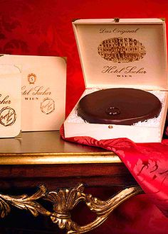 Sacher Torte from Hotel Sacher in Vienna Cafe Restaurant, Sacher Wien, Austrian Recipes, Austrian Food, Visit Austria, Cake Packaging, Bon Dessert, Thing 1, Chocolate Packaging