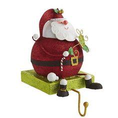 Glitter Santa Stocking Holder