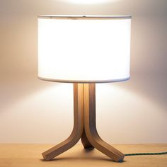 Traverse Bent Plywood Table Lamp by Ciseal on Etsy