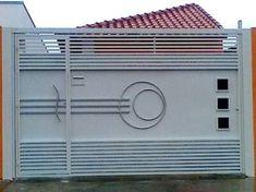 Grill Gate Design, Fence Gate Design, Front Door Design Wood, Front Gate Design, Main Gate Design, House Gate Design, Garage Door Design, Garage Doors, Modern Steel Gate Design