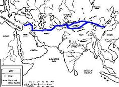 The 7,000-mile Silk Road flourished during the Han dynasty, allowing trade between China and India.