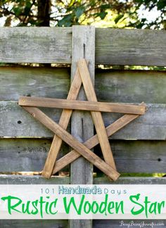 DIY  Rustic Salvaged Wood Star !